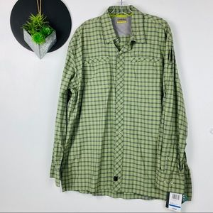Cabellas NWT Plaid Wicking Long Sleeve XL